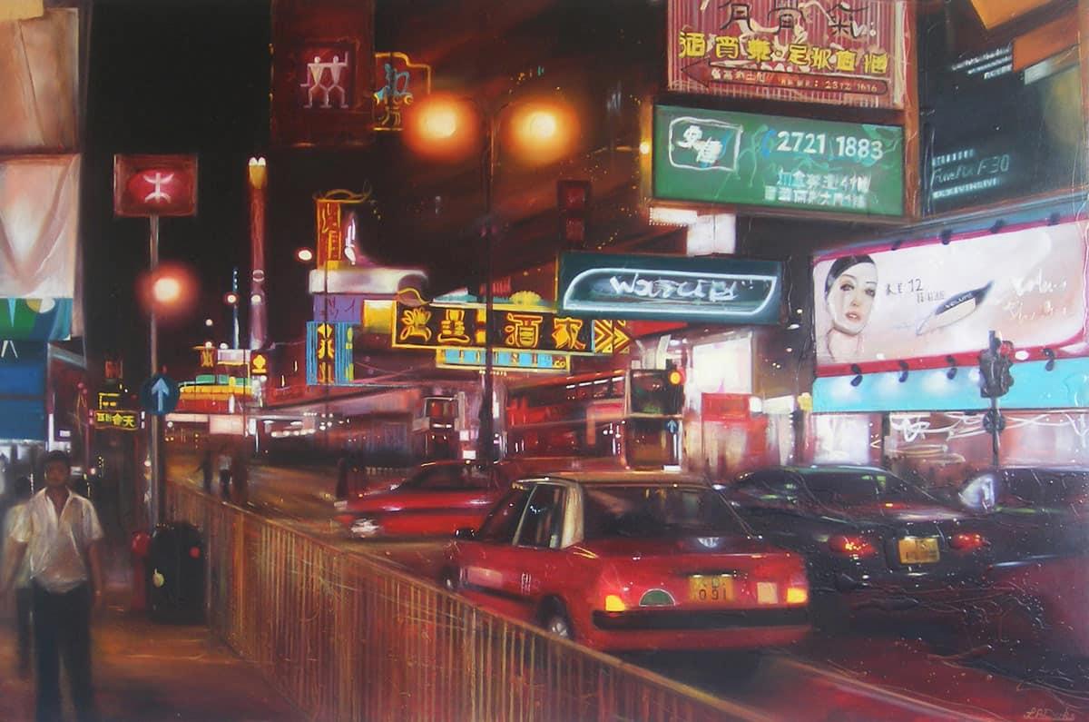 Nathan Road by Night, Hong Kong