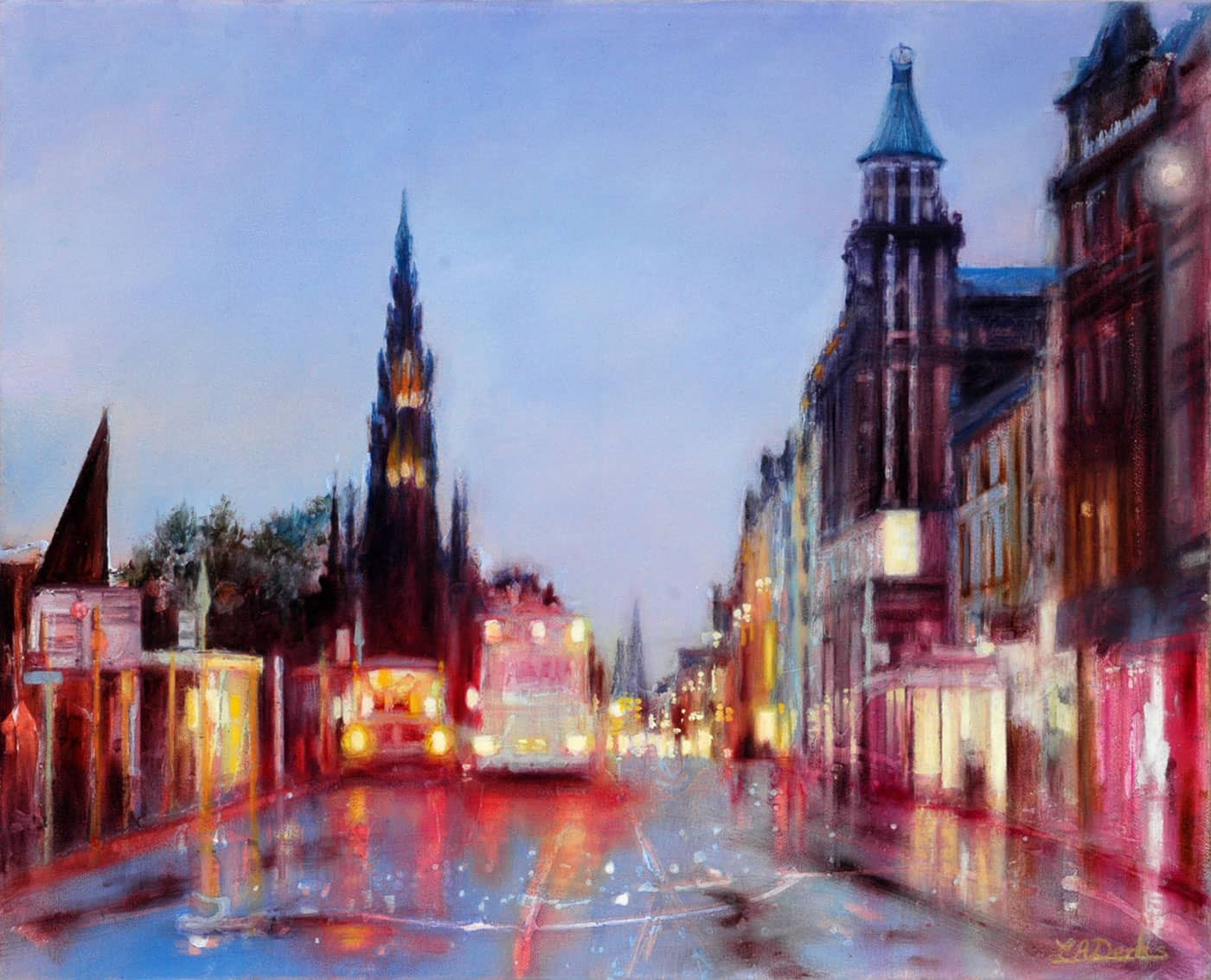 Princes Street Reflections, Edinburgh